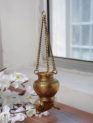 Brass Gangajali (L- 4.5in, W- 2.6in, H- 2.6in)