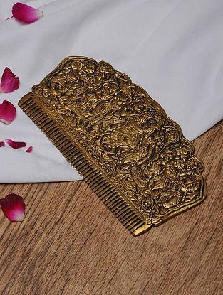 Brass Krishna Comb Tabletop Accent (L- 6.5in, W- 3.3in)