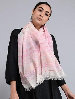 Pink Cotton Jacquard Stole