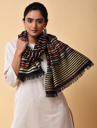 Multicolored Striped Cotton Wool Stole