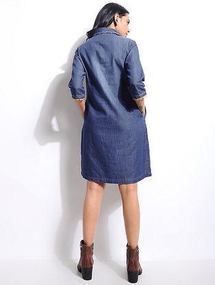 Blue Denim Hand Embroidered Tunic