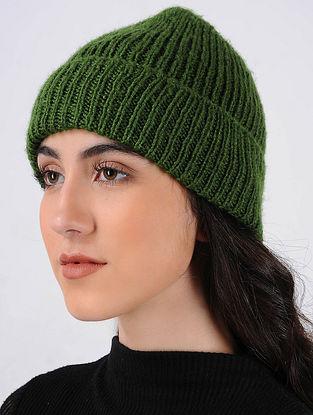 Green Hand Knitted Wool Cap