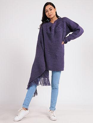 Purple Wool Cape