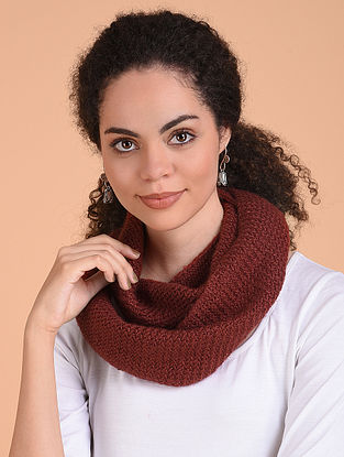 Rust Hand Knitted Wool Cowl