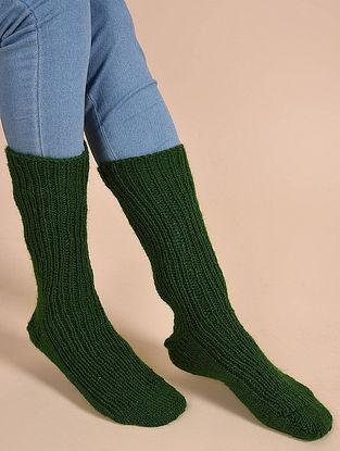 Green Hand Knitted Wool Socks