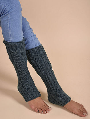 Grey Hand Knitted Wool Leggings