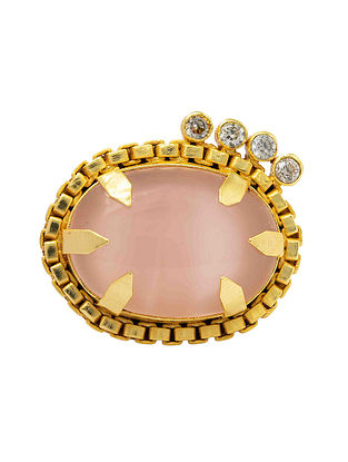 Pink Gold Plated Handcrafted Adjustable Ring