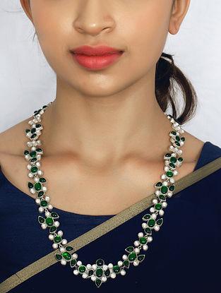 Green Kundan Silver Necklace