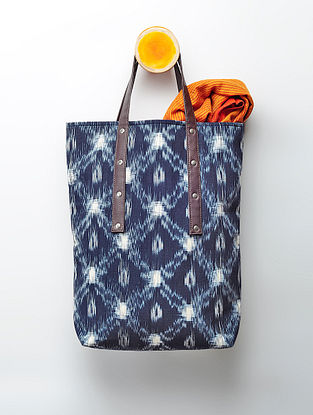 Indigo Handcrafted Ikat Cotton Tote