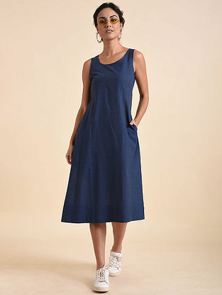 Indigo Organic Cotton Dress