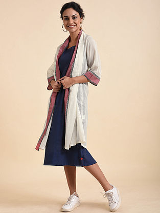Ivory Red Handwoven Cotton Dress