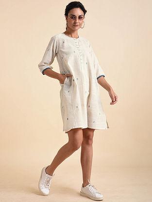 Ivory Jamdani Khadi Dress