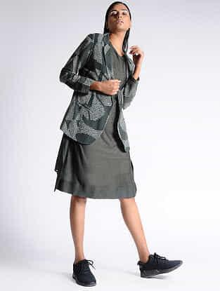Black Shibori Organic Cotton Jacket
