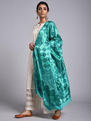 Green Phulkari Crepe Chiffon Dupatta