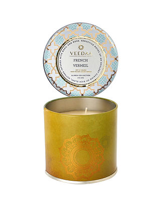 French Vermeil Mason Tin Scented Candle (Burns 25+ Hours)