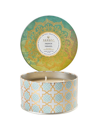 French Vermeil 3 Wick Tin Scented Candle (400 gms)