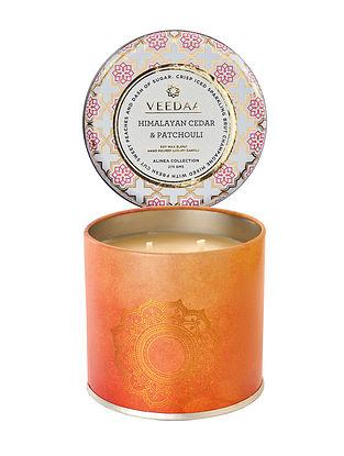 Himalayan Cedar and Patchouli Mason Tin Scented Candle (Burns 25+ Hours)