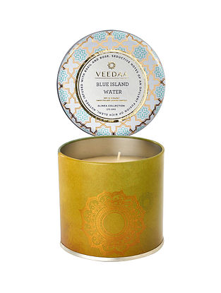 Blue Island Water Mason Tin Scented Candle (300 gms)