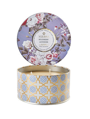 Bulgarian Lavender 3 Wick Tin Scented Candle (400 gms)
