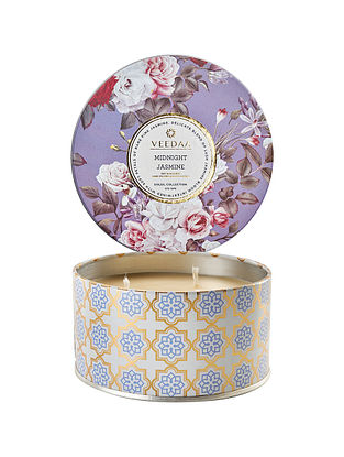 Midnight Jasmine 3 Wick Tin Scented Candle (Burns 40+ Hours)