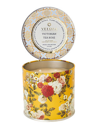Victorian Tea Rose Mason Tin Scented Candle (Burns 25+ Hours)