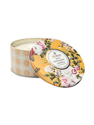 Lily and Black Orchid 3 Wick Tin Scented Candle (400 gms)