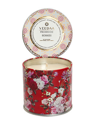 Prosecco Berries Mason Tin Scented Candle (300 gms)