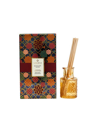 Blue Island Water Champagne Glass Fragrance Reed Diffuser (350 gms)