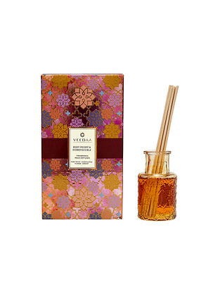 Ruby Peony and Honeysuckle Champagne Glass Fragrance Reed Diffuser (Lasts 3+ Months)