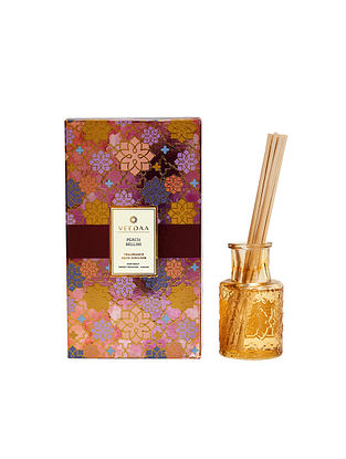 Peach Bellini Champagne Glass Fragrance Reed Diffuser (Lasts 3+ Months)