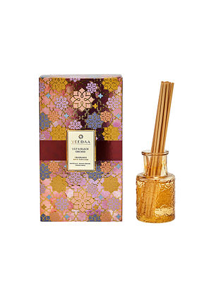 Lily and Black Orchid Champagne Glass Fragrance Reed Diffuser (350 gms)