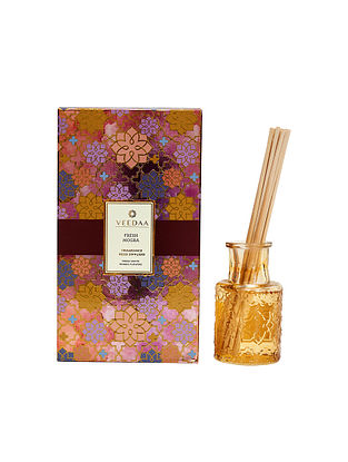 Fresh Mogra Champagne Glass Fragrance Reed Diffuser (Lasts 3+ Months)