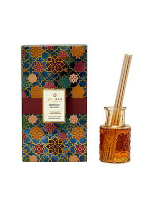 Midnight Jasmine Champagne Glass Fragrance Reed Diffuser (Lasts 3+ Months)
