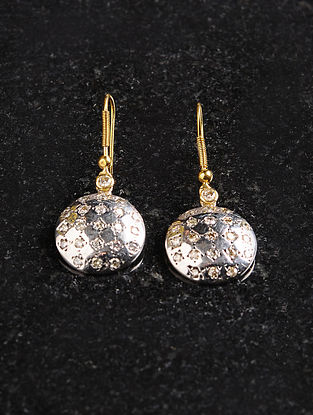 Gold, Diamond and Silver Earrings