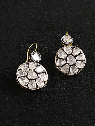 Polki Gold and Silver Earrings