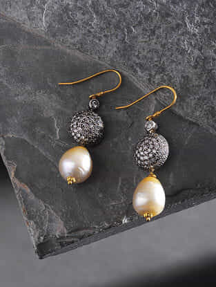 South Sea Pearl and Diamond Gold Earrings