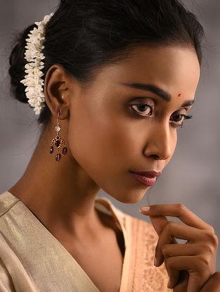 Ruby Polki Gold Earrings