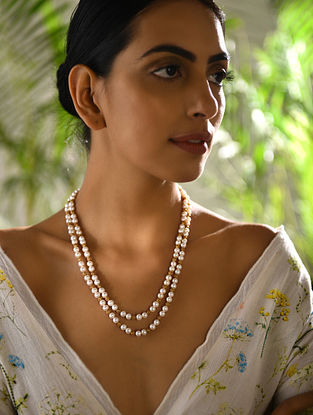 Pearl Beaded Gold Necklace