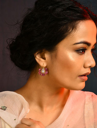 Tourmaline and Diamond Gold Earrings