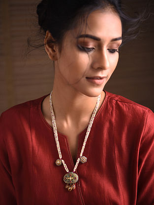 Ruby and Citrine Gold Polki Necklace