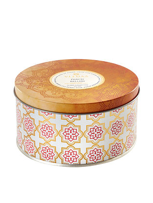 Peach Bellini 3 Wick Tin Scented Candle (Dia: 4.5in, H:2.3)
