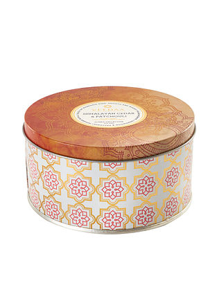 Himalayan Cedar & Patchouli 3 Wick Tin Scented Candle (Dia: 4.5in, H:2.3)