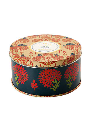 Fresh Mogra 3 Wick Tin Scented Candle (Dia: 4.5in, H:2.3)