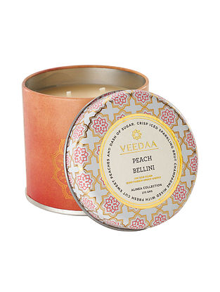 Peach Bellini Mason Tin Scented Candle (Dia:3in, H:3in)