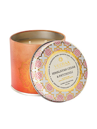 Himalayan Cedar and Patchouli Mason Tin Scented Candle (Dia:3in, H:3in)