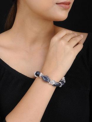 Blue Agate Handcrafted Beaded Bracelet