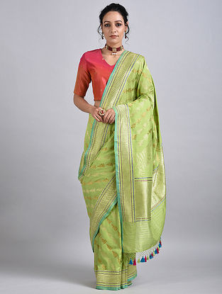 Green Handwoven Benarasi Silk Saree
