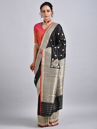 Black Handwoven Benarasi Silk Saree