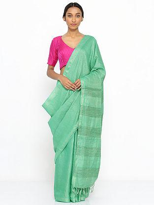 Green Tussar Silk Saree