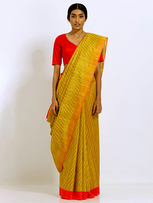 Yellow Benarasi Silk Saree